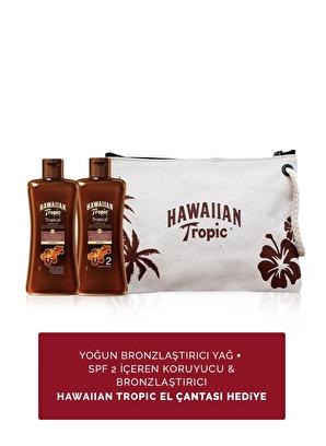 Hawaiian Tropic Yoğun Bronzlaştırıcı Yağ + Spf 2 İçeren Koruyucu & Bronzlaştırıcı Yağ + Hawaiian Tropic El Çantası Hediye